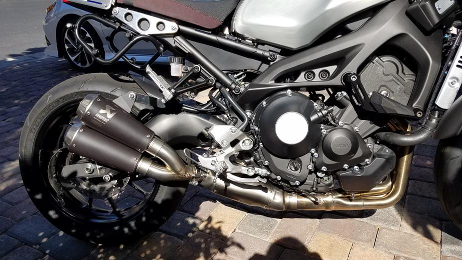 Yamaha XSR900 Akrapovic Low Mount Exhaust System 20180426 153657