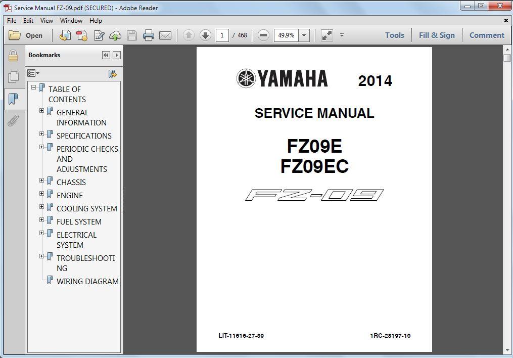 yamaha service manual page 10 rh fz09 org Yamaha Motorcycle Manuals 2006 Yamaha G22E Service Manual