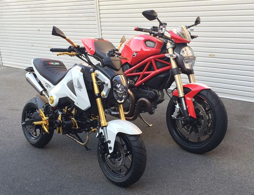 what do you get when you mate an fz09 with a honda grom. Black Bedroom Furniture Sets. Home Design Ideas
