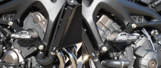2017 FZ09 Frame Sliders & Engine Guards