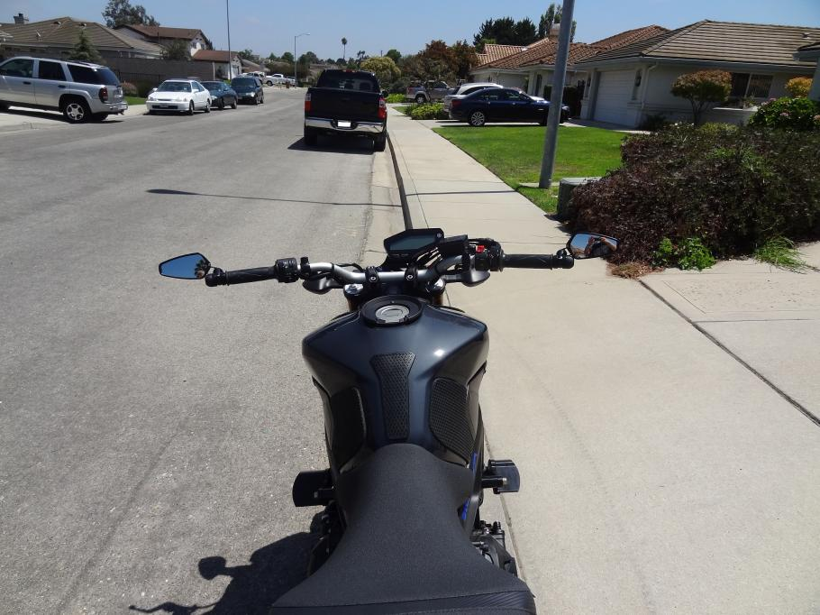 Best Bar End Mirror Mounting Option For Stock Fz 09 Handle